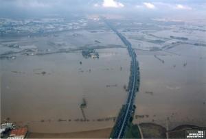 Autoroute A9 inondé