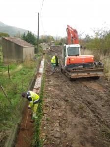 travaux canaux d(irrigation